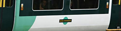 railway coasch with Southern logo