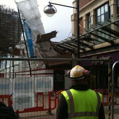 Collapsed BHS store in Swindon