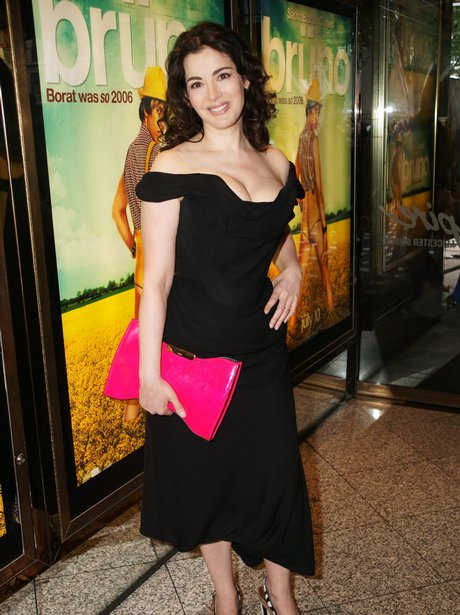 Nigella Lawson shows off cleavage