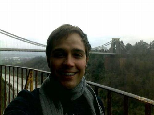 Tim at the Clifton Suspension Bridge