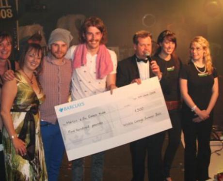 Charity cheque presentation