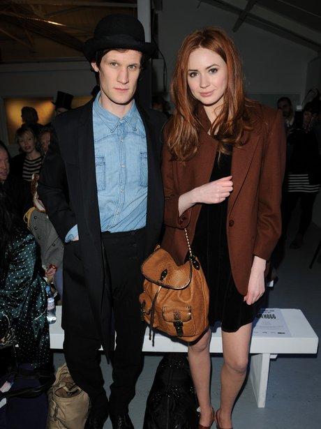 Matt Smith and Karen Gillan at London Fashion Week ...