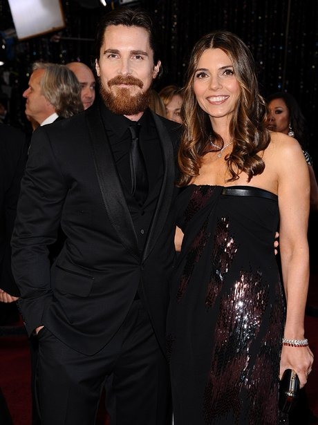 Christian Bale and his wife Sibi Blazic on the red carpet at the 83rd Academy Awards