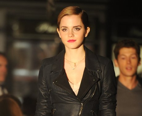 Emma Watson on the set of a lancome ad