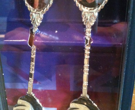 Royal wedding silver spoons