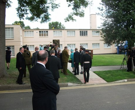 Queen at Bletchley