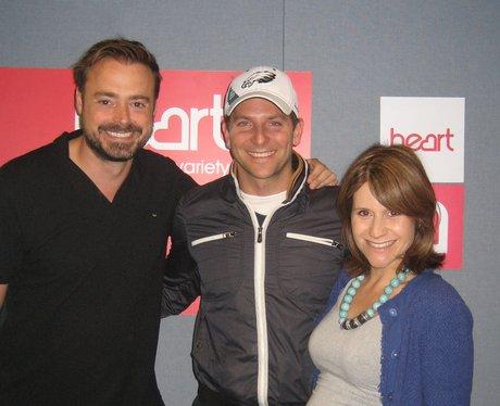 Bradley Cooper with Jamie Theakston & Harriet Scot