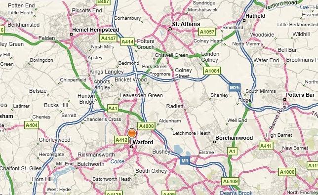 Watford map