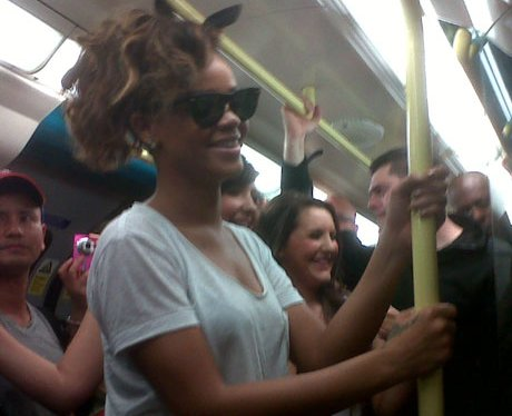 Rihanna Takes The Tube