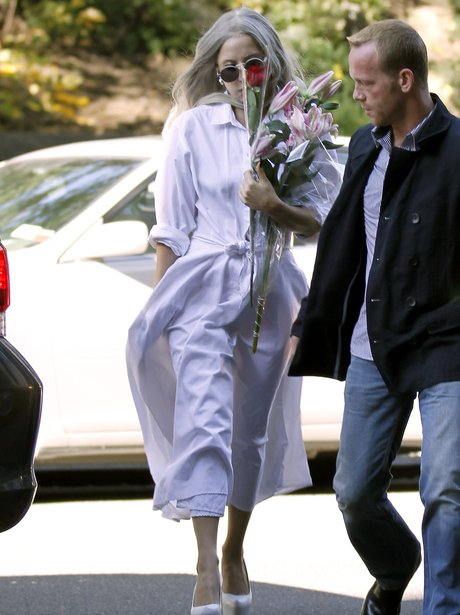 Lady Gaga in white