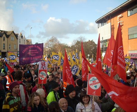 Hundreds marched through Bournemouth
