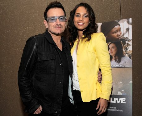 Bono and Alicia Keys arrive for a screening