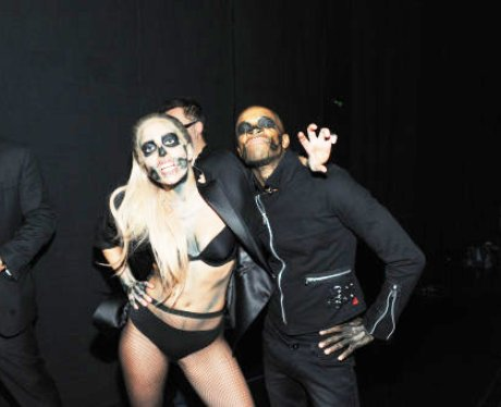 Lady Gaga backstage at Grammys Nomination Concert