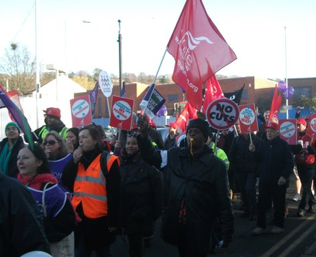 Public Sector Strike Luton March