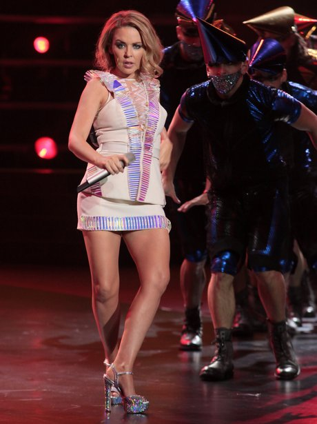 Kylie Minogue on stage in Shanghai