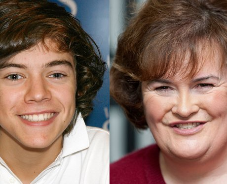 Harry Styles and Susan Boyle