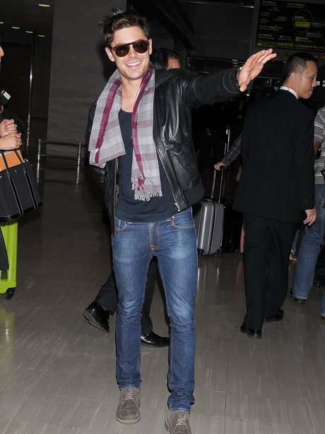 Zac Efron arriving in Japan