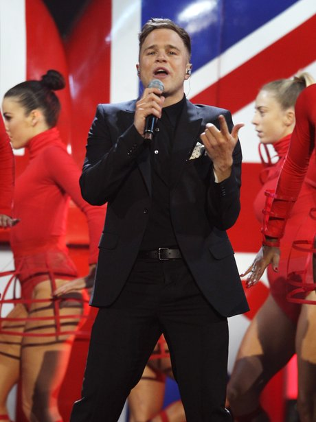 Olly Murs at the BRIT Awards 2012