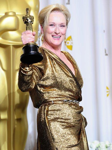 Meryl Streep wins Best Actress at the Oscars