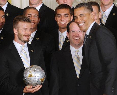 David Beckham meets Barack Obama