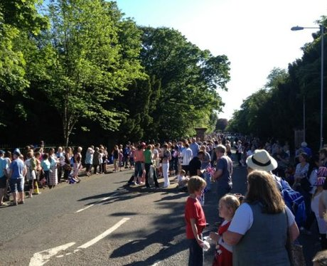 Birkenhead lines the streets