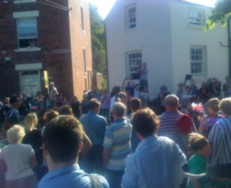 Olympic torch in Chester