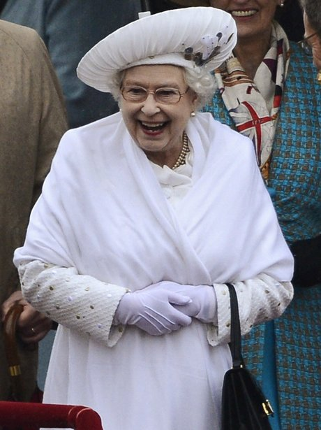 The Queen laughs
