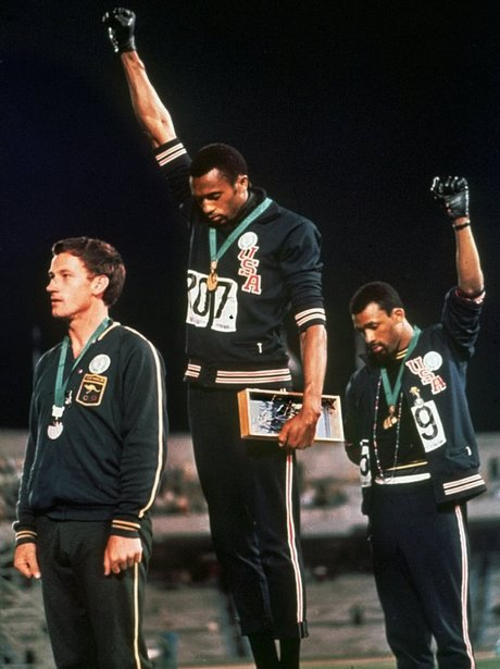 Tommie Smith and John Carlos' famous salute
