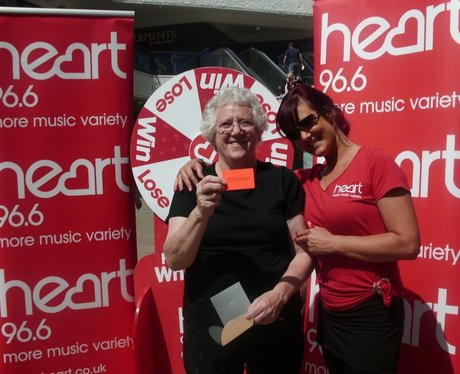 See the Heart Angels spinning the Winning Wheel at