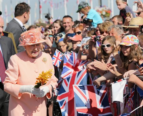 Queen Elizabeth II Visits The Isle Of Wight And Ne