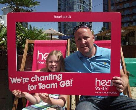Chanting for GB at the Caribbean Plaza, Gunwharf