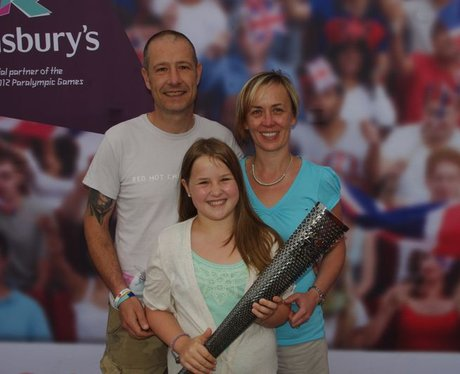 Paralympic torch at Sainsbury's, Farlington