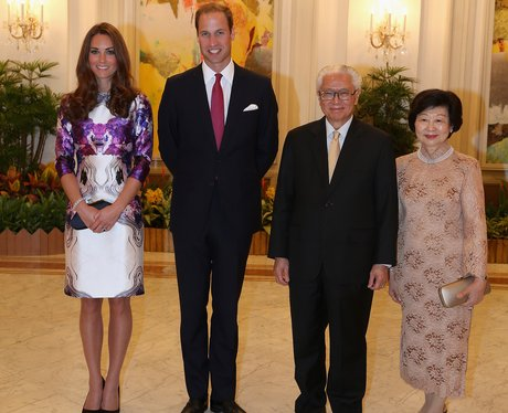 Wills and Kate with the President of Signapore
