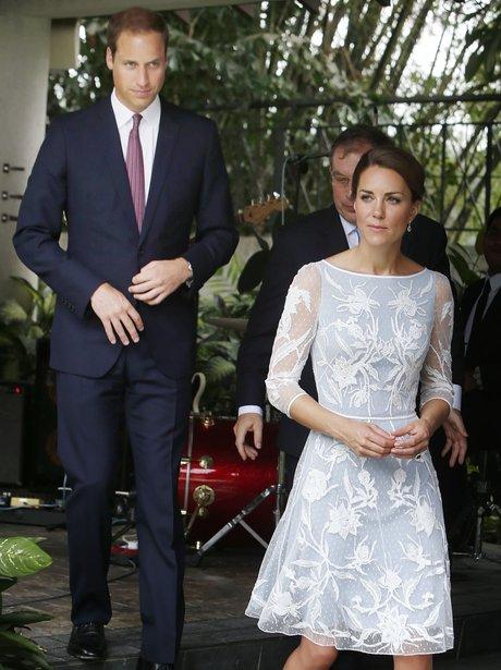 The Duke and Duchess of Cambridge take a stroll