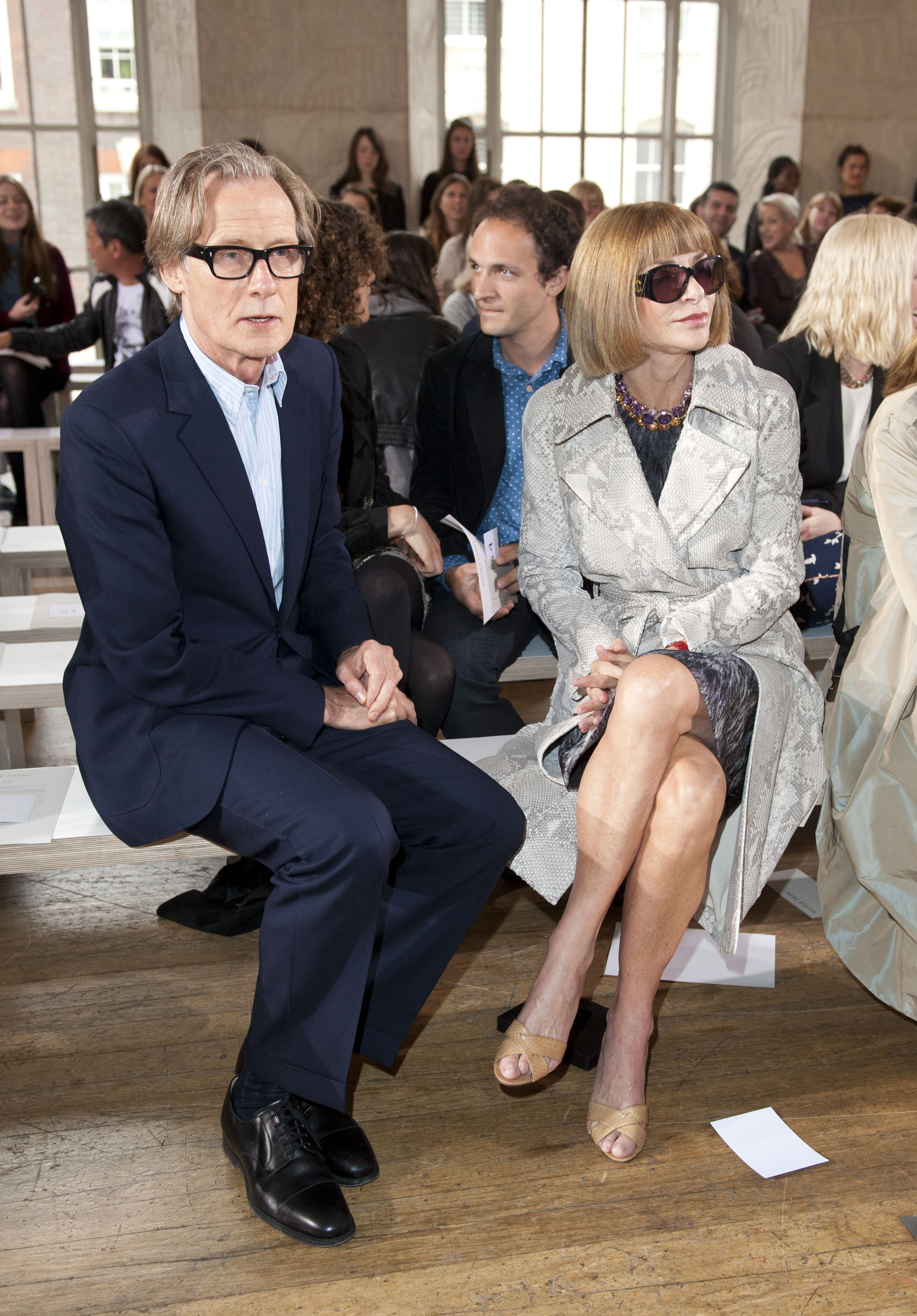 london fashion week celebs front row