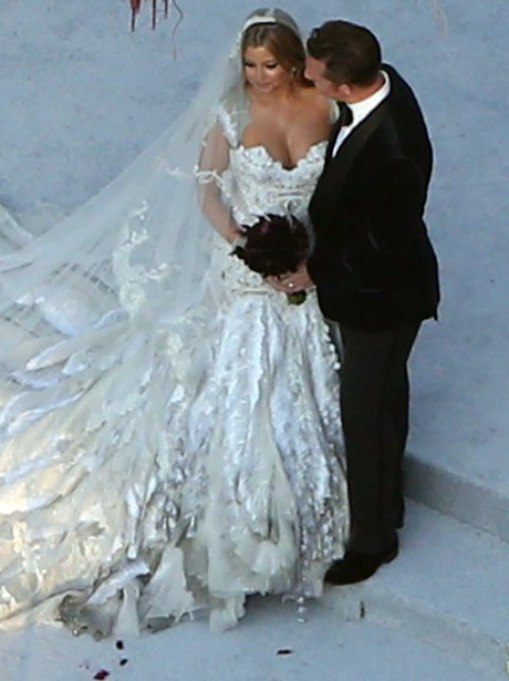 Holly Valance and Ncik Candy on their wedding day