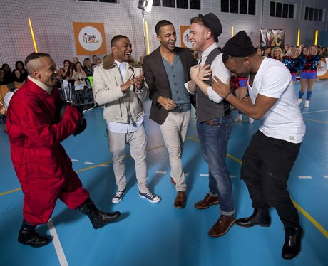 JLS and Olly Murs prank