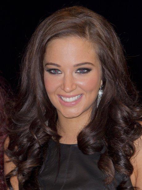 Tulisa with brown hair