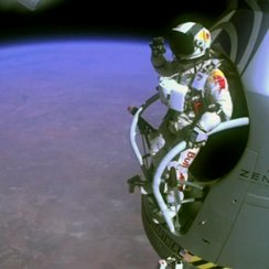 Pilot Felix Baumgartner Supersonic Skydiver