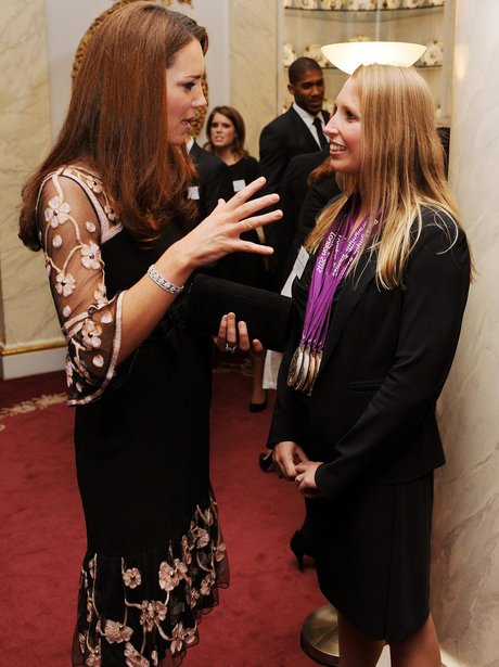 Kate Middleton talks to Paralympian Stephanie Millward