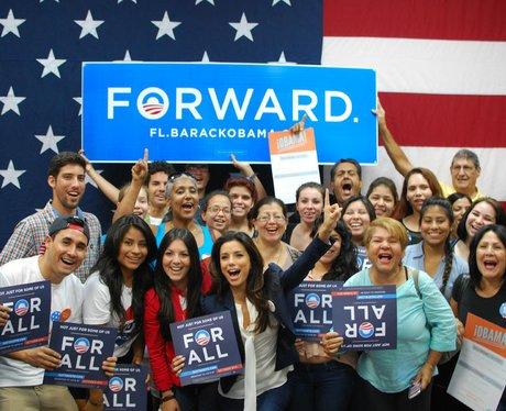 Eva Longoria backing Obama