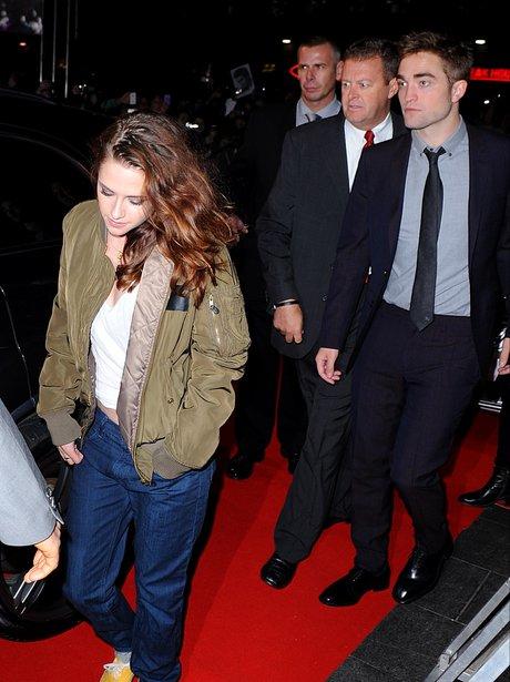 Robert Pattinson and Kristen Stewart leave