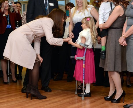 The Duchess of Cambridge meets a patient
