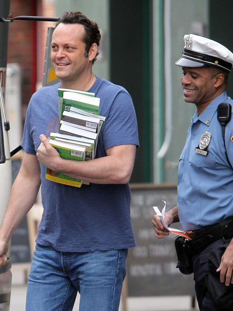 Vince Vaughn on the set of Delivery Man
