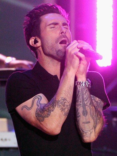 Adam Levine Grammys Nominations Conert 2012