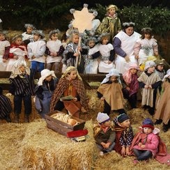 nativity scene school play