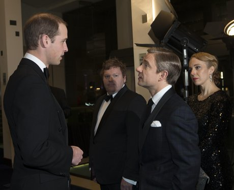 The Duke of Cambridge meets The Hobbit cast
