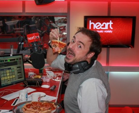 Jamie Thekaston eating pizza