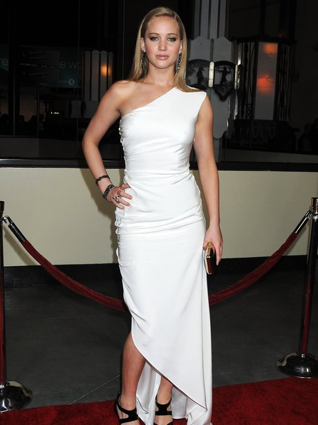 Jennifer Lawrence in tight white dress