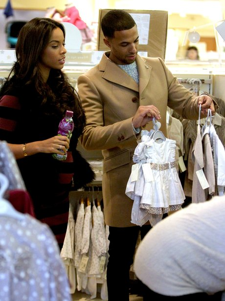 Marvin and Rochelle Humes shop for baby clothes
